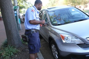 Parking enforcement agent, Sept. 29, 2014