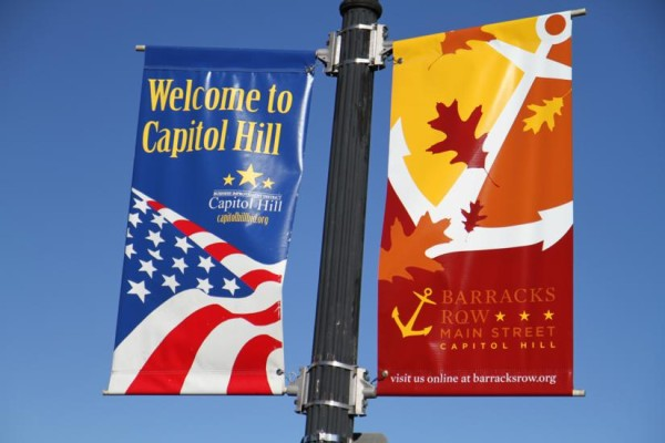 Capitol Hill and Barrack's Row street signs