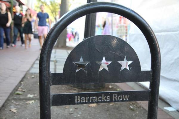 Barrack's Row bike parking post