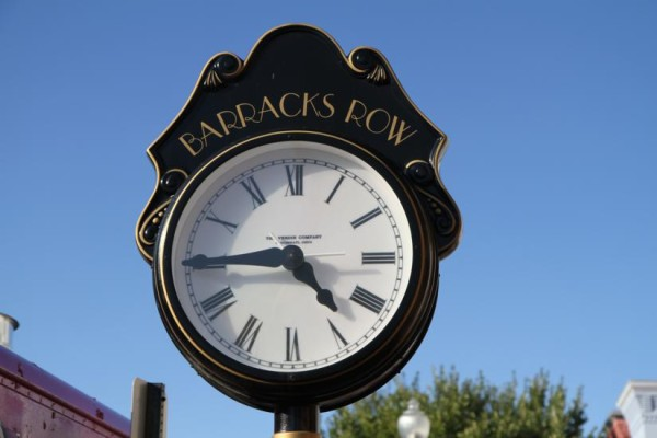 Barracks Row clock