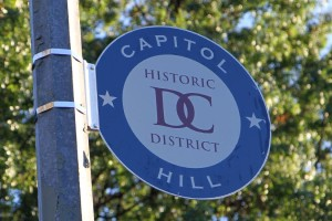 Capitol Hill Historic District sign