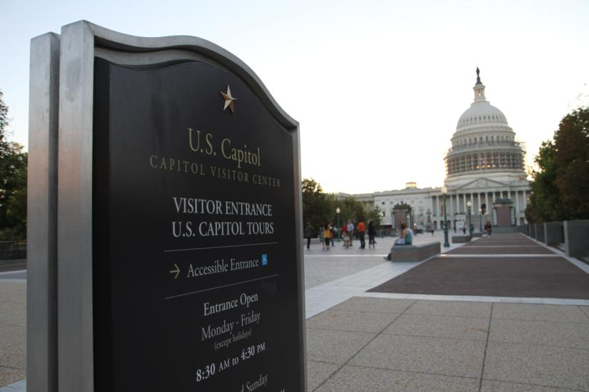 U.S. Capitol Visitors Center sign