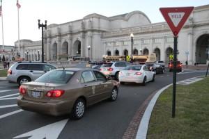Traffic near Union Station