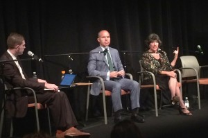 David Catania and Carol Schwartz spoke at a mayoral forum on Southwest DC and the Navy Yard.