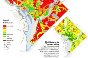 Much of Ward 6 has poor access to existing transit, DDOT says. (Photo via DDOT)