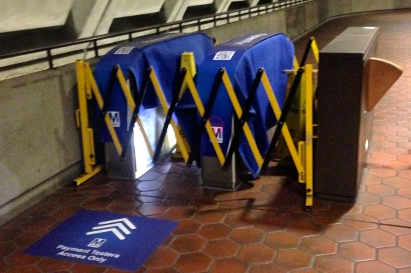 Card-less Metro fare gates (Photo by George Altshuler)