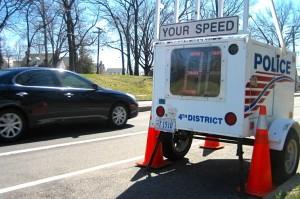 Speed monitor (Photo via Flickr/dcmetroblogger)