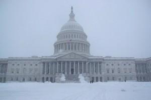 Snow at the Capitol (Photo via Flickr/paulyc)