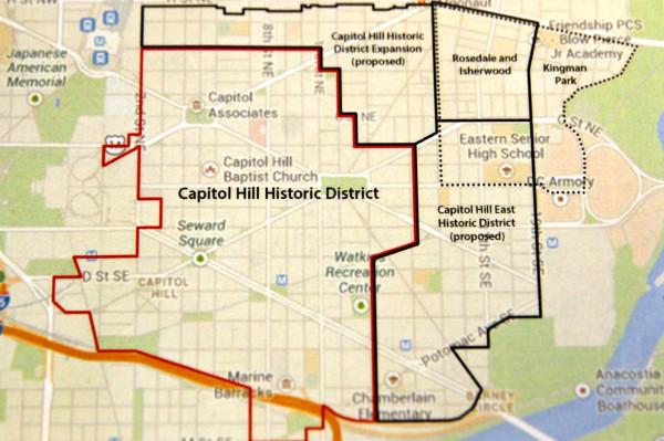 Historic districts (Photo via Capitol Hill Restoration Society)