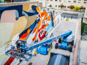 SatOne's mural at L'Enfant Plaza (Photo courtesy of JBG Companies)