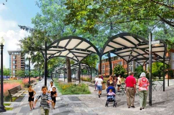 Lansburgh Park upgrade rendering (Photo via Office of Planning)