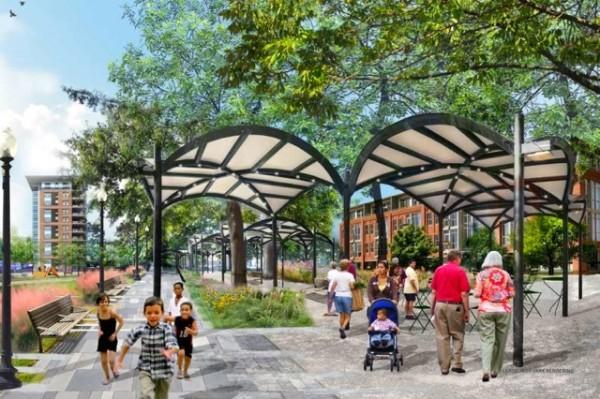 Lansburgh Park upgrade rendering (Photo via Office of Planning)