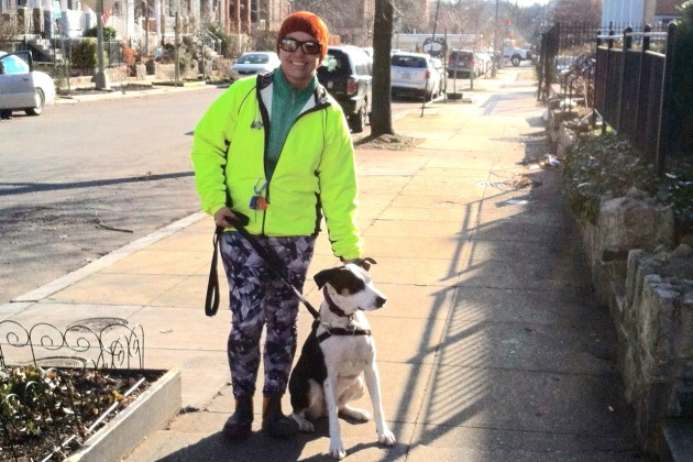 Rachel Humphreys, owner of Little Friend(s) Big Heart(s) Pet Service, with Shera