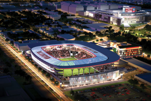 Stadium rendering (Photo via DC United Soccer)