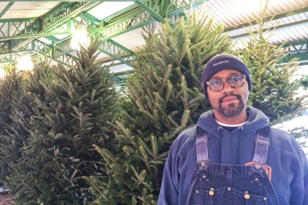 Christmas tree seller Elliott Warley Jr.