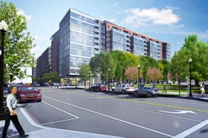 1001 4th St. SW (Rendering via Waterfront 1001 4th Street, LLC/Department of Consumer and Regulatory Affairs)