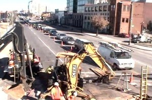 Road work at New York Avenue NE and North Capitol Street (Photo via MPD)