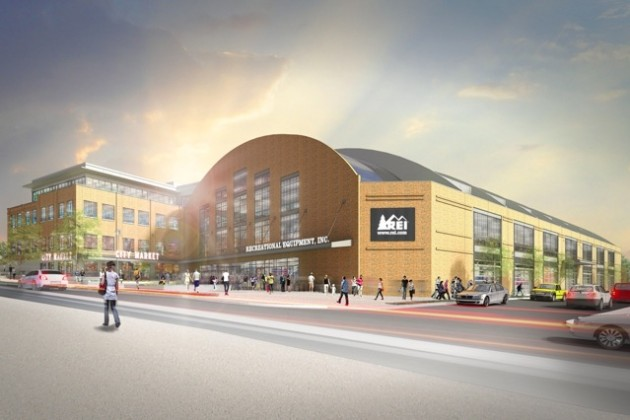 REI in Uline Arena rendering (Image courtesy of REI)