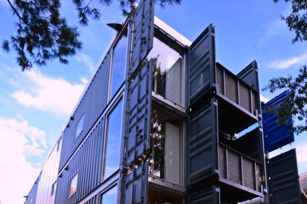 Other shipping container homes by Travis Price (Image courtesy of Travis Price Architects)