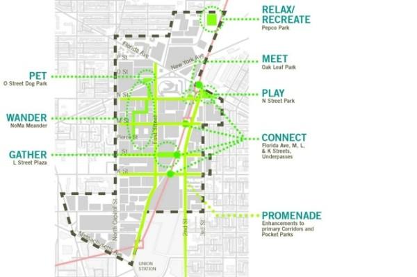 Parks planned in NoMa (Image via NoMa Parks Foundation)