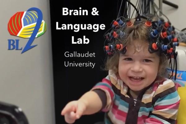 Gallaudet research study (Image courtesy of Petitto Brain & Language Laboratory at Gallaudet University)