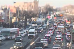 Real-time traffic camera, New York Avenue and North Capitol Street, 5 p.m. Feb. 23, 2015 (Photo via DDOT)
