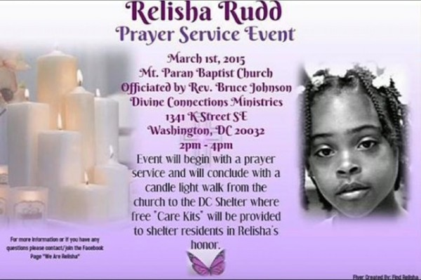 Relisha Rudd flier (Photo via Mt. Paran Baptist Church)