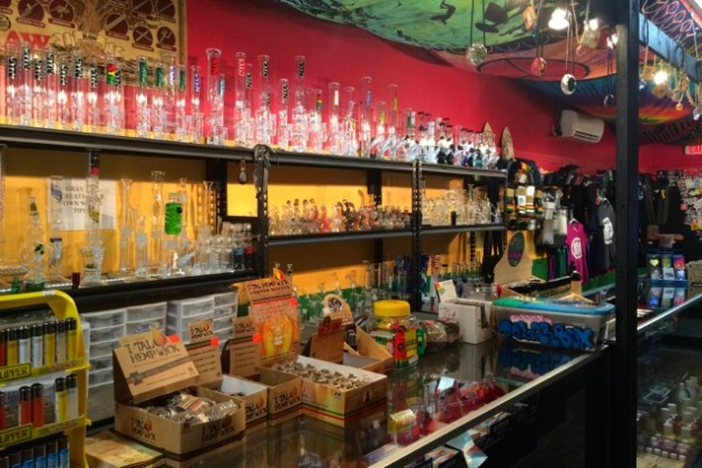 Island Dyes carries hand-blown glass pipes that cost $70 to  $750 each.