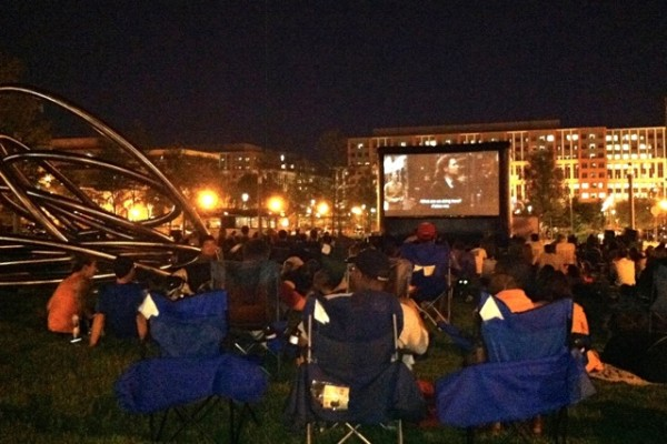 Capitol Riverfront Outdoor Movie Series (Photo via Capitol Riverfront BID)