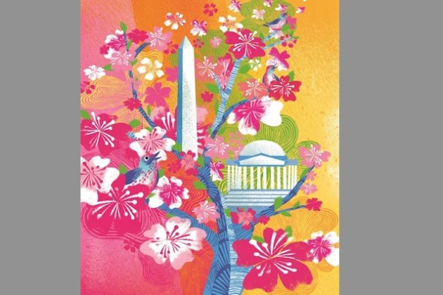 National Cherry Blossom Festival official art (Image via National Cherry Blossom Festival)