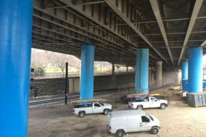 New Jersey Avenue under Southeast Freeway