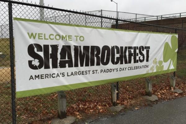 ShamrockFest sign
