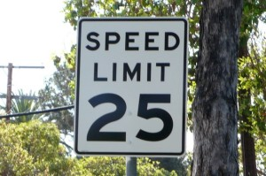 Speed limit sign (Photo via Flickr/spacedust2019)