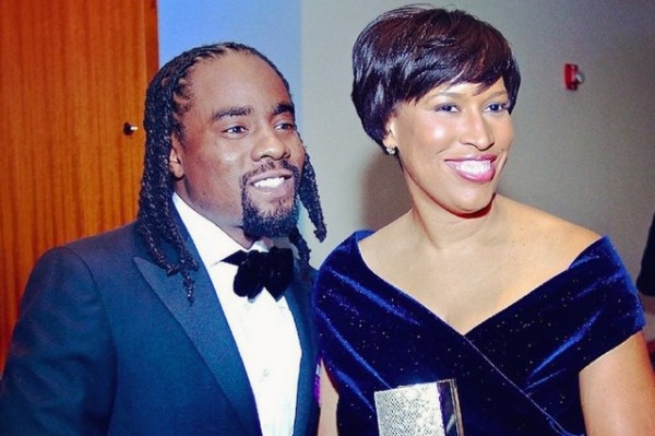 Wale and Mayor Muriel Bowser at Bowser's inauguration party (Photo via Instagram/Wale)