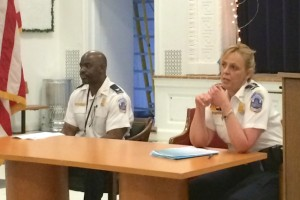 First District Commander Jeff Brown with Police Chief Cathy Lanier, April 7, 2015