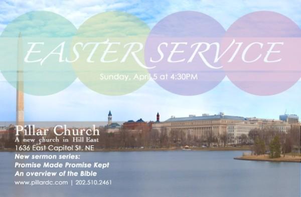 Pillar Church Easter service invitation