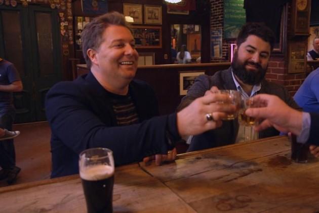 Jay Larson and Sean Patton have a shot at Kelly's Irish Times (Photo via Twitter/BestBarsESQ)