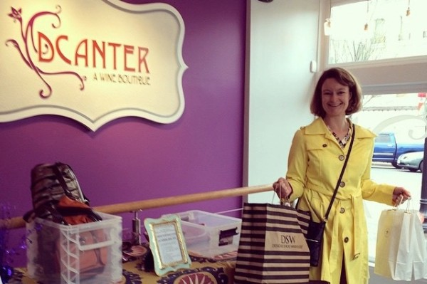 DCanter customer donating clothing for Dress for Success (Photo via Facebook/DCanter)