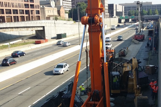 I-395 construction (Photo via 3rd Street Tunnel Project)