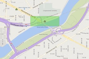 Pepco outage map as of 8:45 a.m. April 20, 2015 (Photo via Pepco)