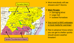 Weather advisory (Image via National Weather Service DC/Baltimore)