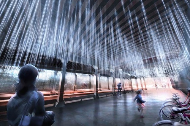 Noma Underpass To Get Rain Public Art Made Of Lights