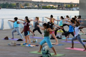 Yards Park yoga (Photo via Capitol Riverfront Business Improvement District)