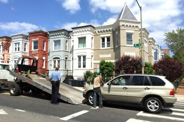 Aftermath of 6th Street NE car crash