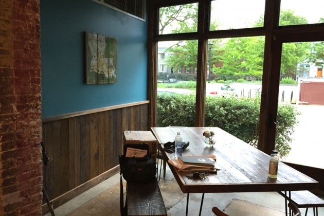 Bayou Bakery's communal dining space