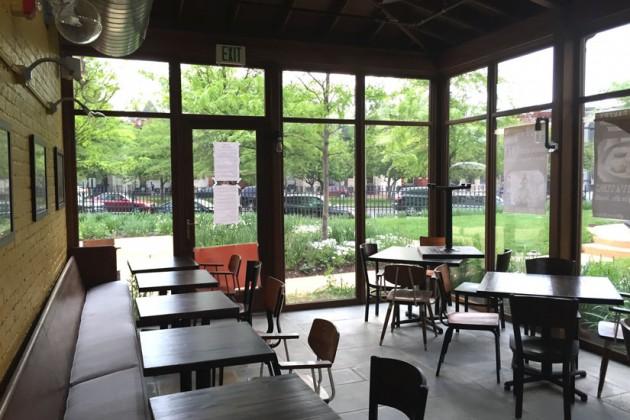 Bayou Bakery's main dining room