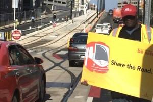 Streetcar worker (Photo via Twitter/DDOT)