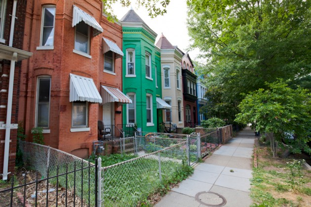 Row houses in new section of the Capitol Hill Historic District