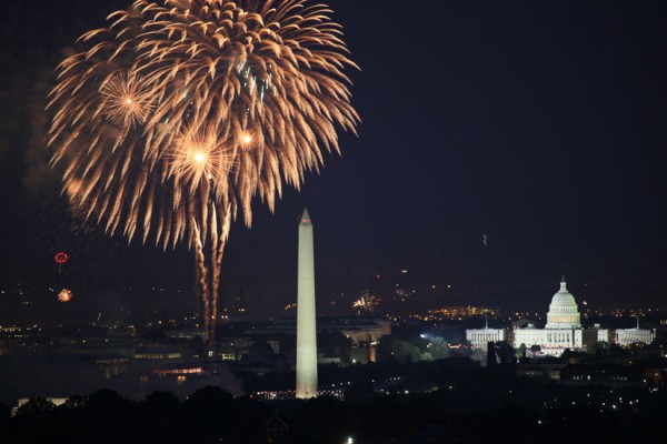 D.C. fireworks on July 4, 2010 (Photo via Flickr/Tim Kelley)