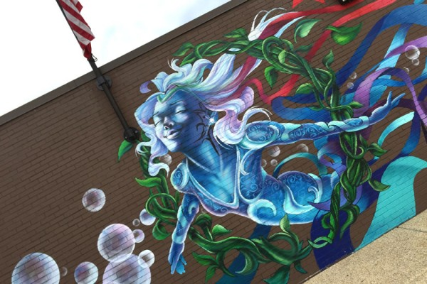 Rumsey Aquatic Center mural